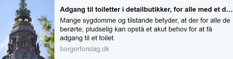 Borgerforslag - adgang til toiletter