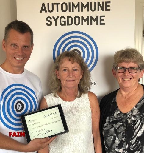 Autoimmune Sygdomme - donation 12000 kr.